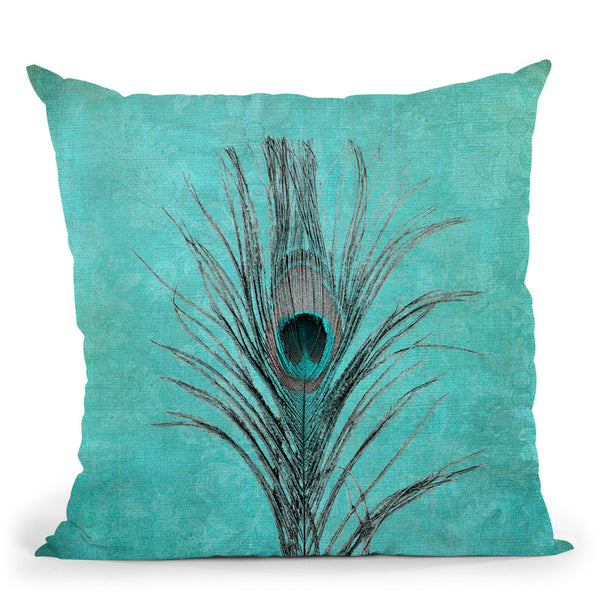 Peacock Feather Ii Throw Pillow By Andrea Haase