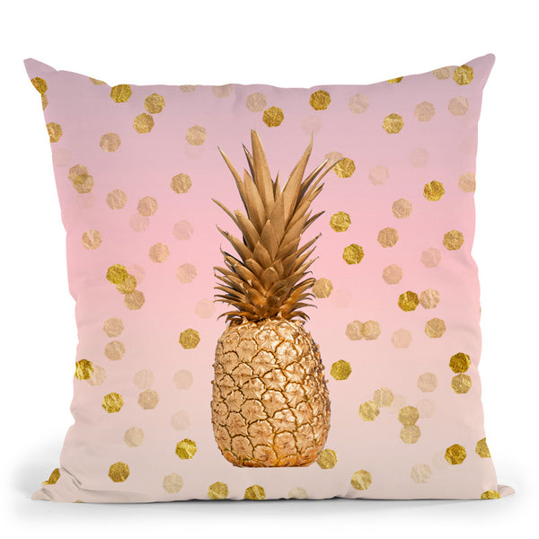 Pineapple Glamour Throw Pillow By Andrea Haase