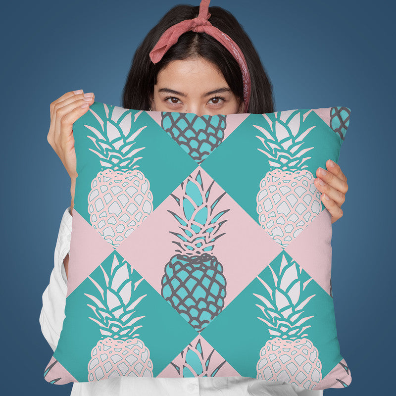 Pineapple Pattern Throw Pillow By Andrea Haase