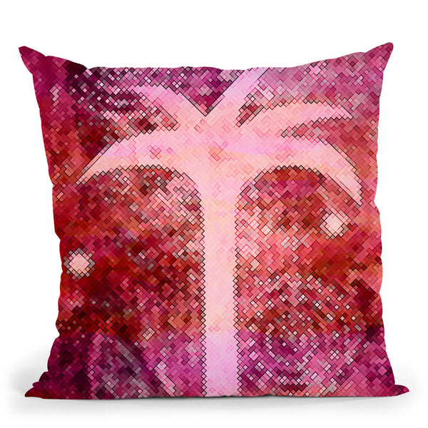 Pink Tropical Night Throw Pillow By Andrea Haase