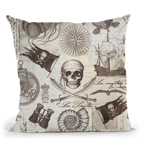 Pirates Throw Pillow By Andrea Haase