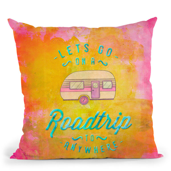 Road Trip Throw Pillow By Andrea Haase