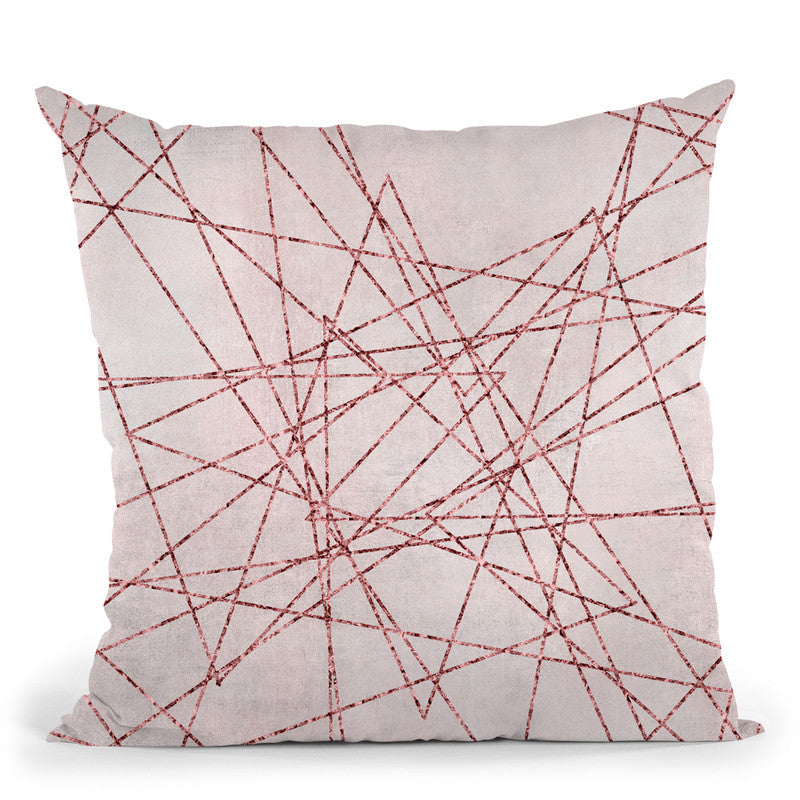 Rosegold Pink Iii Throw Pillow By Andrea Haase