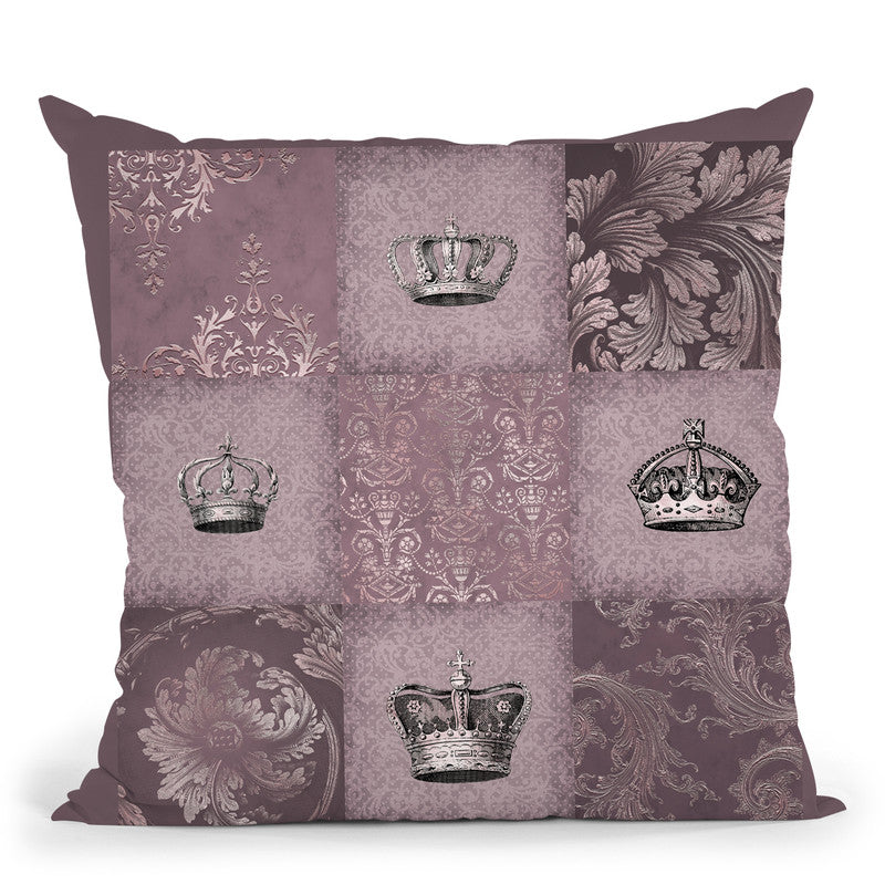 Royal Quilt Pattern Ii Throw Pillow By Andrea Haase