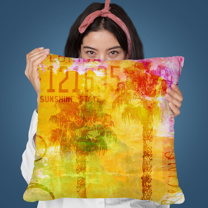 Sunshine State Throw Pillow By Andrea Haase