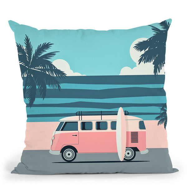 Surfers Beach Throw Pillow By Andrea Haase