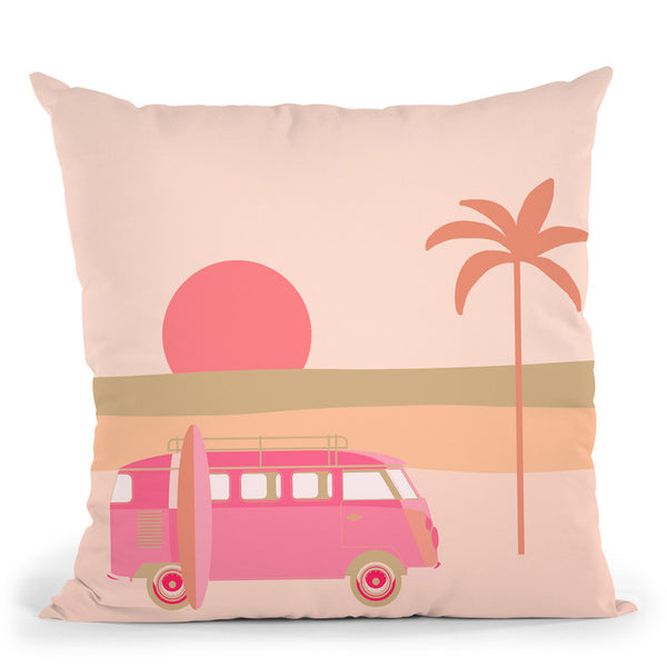 Surfers Paradise Boho Beach Throw Pillow By Andrea Haase