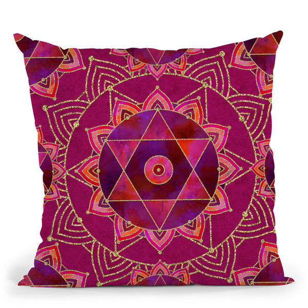 Tribal Purpur Throw Pillow By Andrea Haase