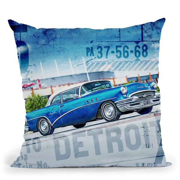 Trip To Detroit Throw Pillow By Andrea Haase