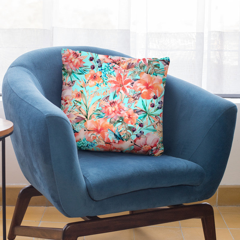 Tropical Jungle And Birds Iv Throw Pillow By Andrea Haase