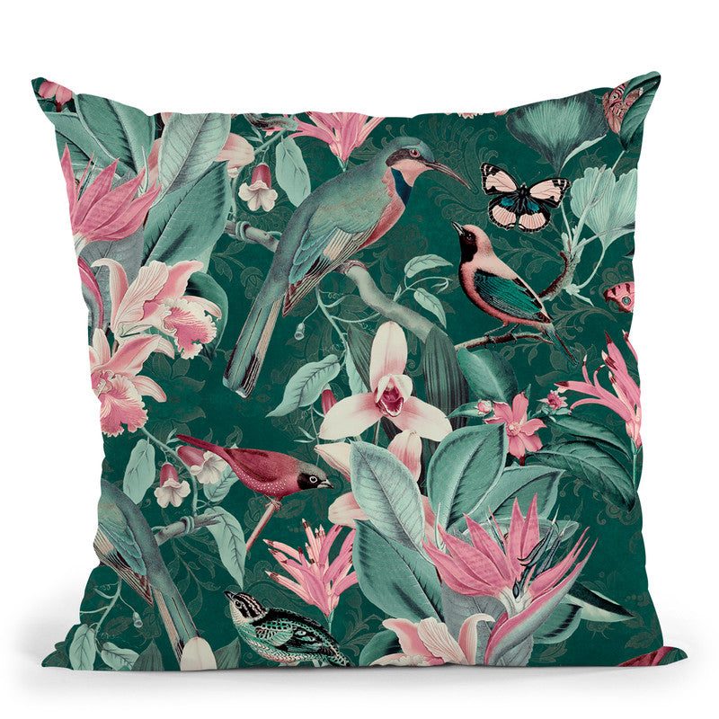Vintage Birds Viiii Throw Pillow By Andrea Haase