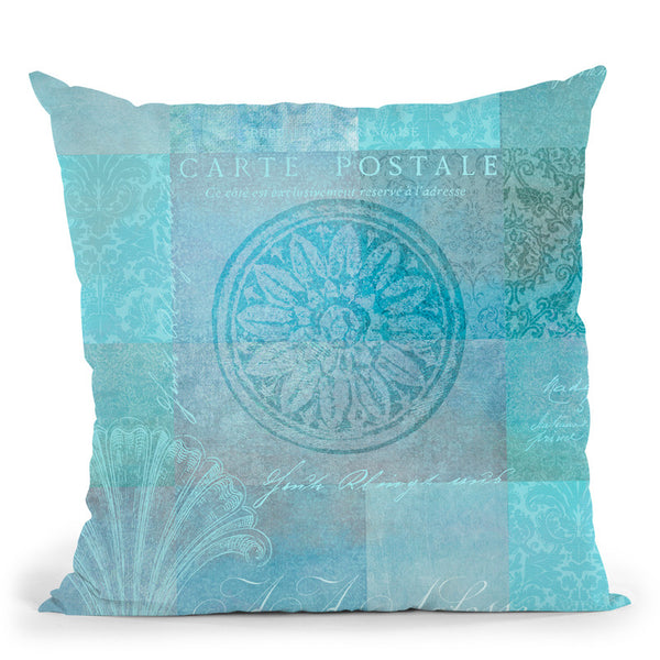 Vintage Blue Ii Throw Pillow By Andrea Haase