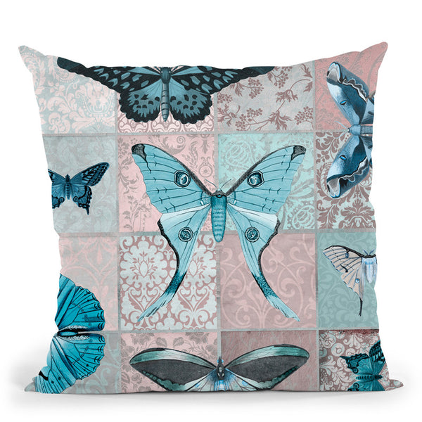 Vintage Butterflies Throw Pillow By Andrea Haase