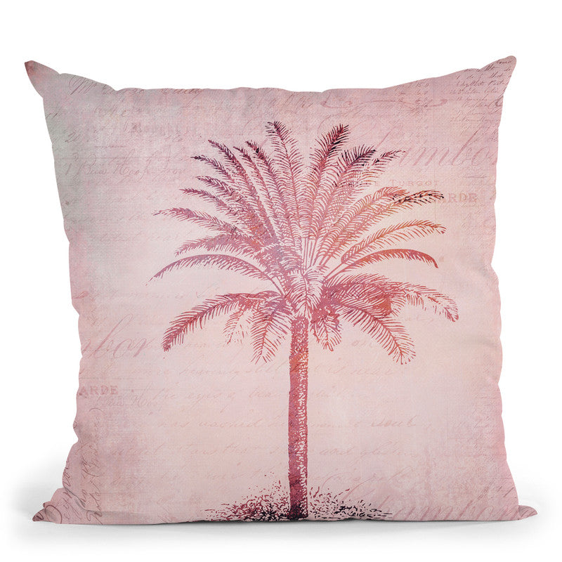 Vintage Palm Throw Pillow By Andrea Haase
