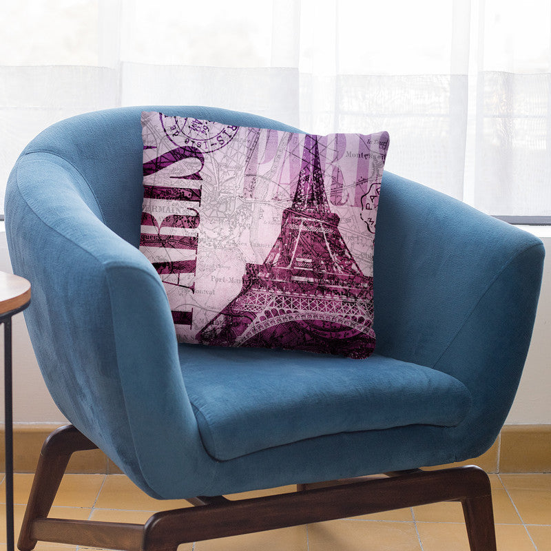 Vintage Paris I Throw Pillow By Andrea Haase