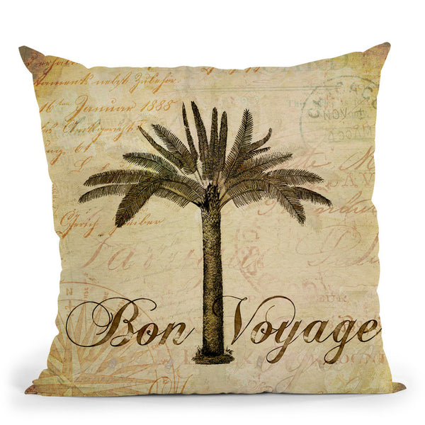 Vintge Palm Tree Throw Pillow By Andrea Haase