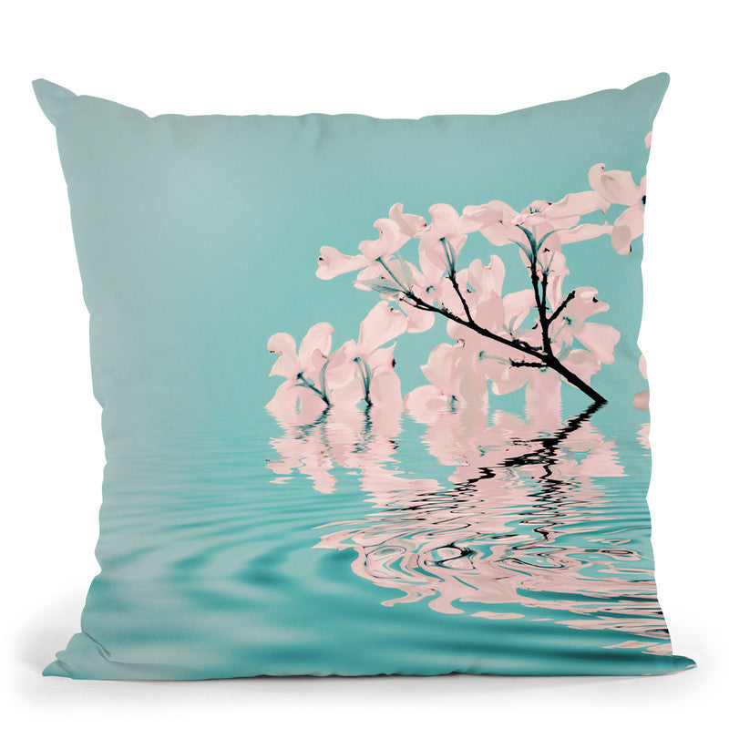 Water Flowers Throw Pillow By Andrea Haase