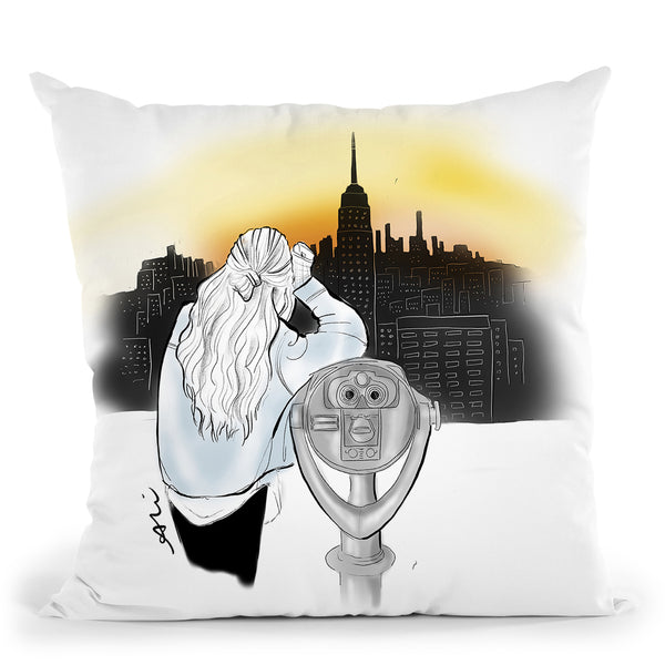 New York New York Throw Pillow By Alison Gordon