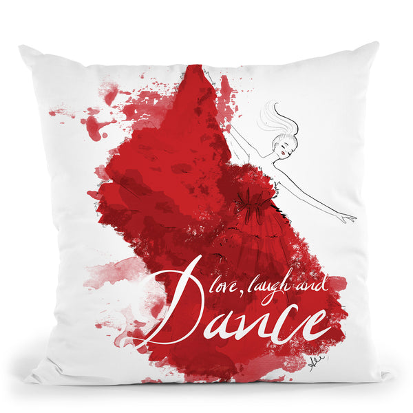 Dancesplatter Throw Pillow By Alison Gordon