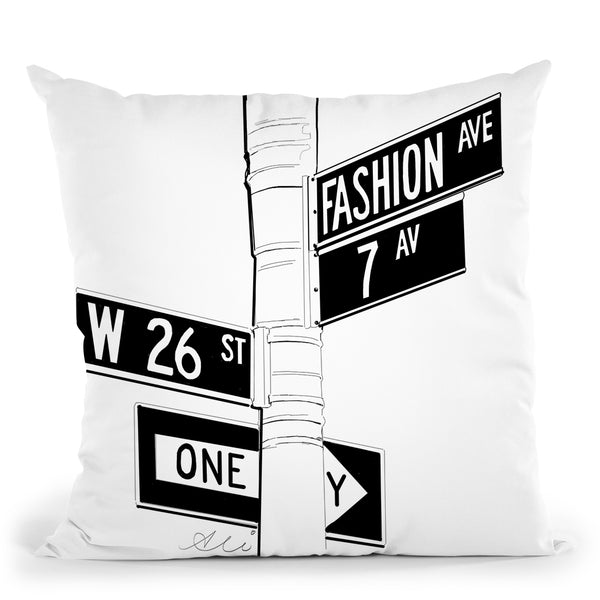 Fashion Avenue Throw Pillow By Alison Gordon
