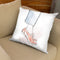 Rose Gold Brogues Throw Pillow By Alison Gordon