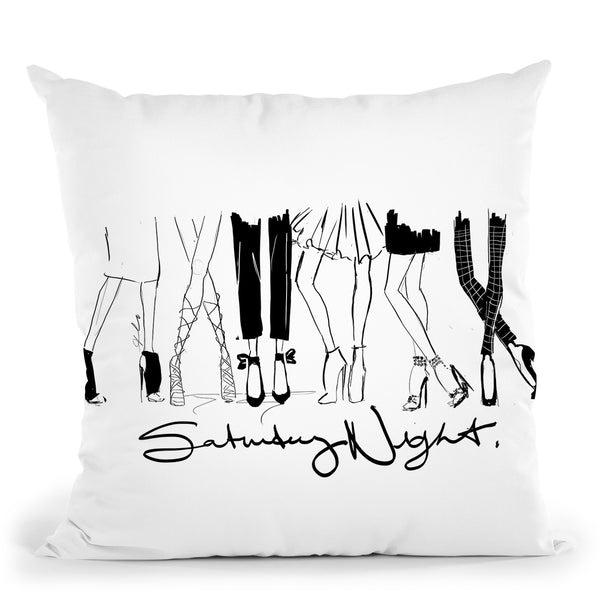 Saturday Night Throw Pillow By Alison Gordon