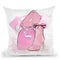 Shades Of Pink Throw Pillow By Alison Gordon