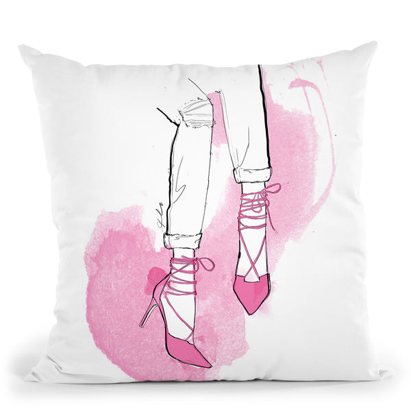 Style Me Pink Throw Pillow By Alison Gordon
