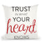 Trust In Your Heart Throw Pillow By Alison Gordon