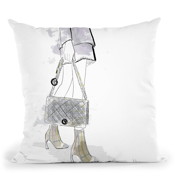 Bonjour Throw Pillow By Alison Gordon