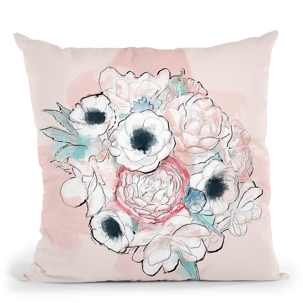 Vintage Bouquet Throw Pillow By Alison Gordon