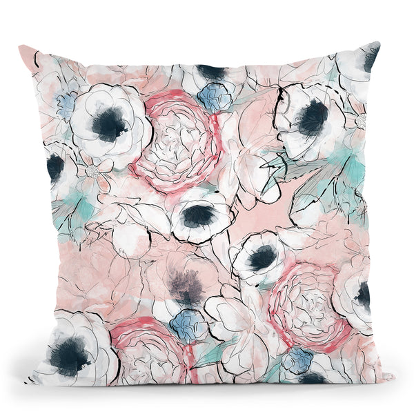 Vintage Garden Throw Pillow By Alison Gordon