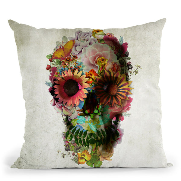 Skull 2 Sq Throw Pillow By Ali Gulec