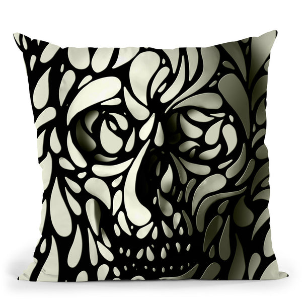 Skull 4 Throw Pillow By Ali Gulec