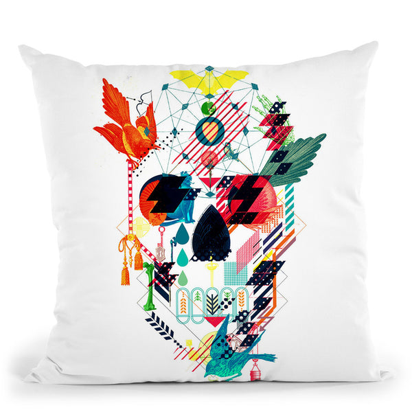 Abstract Skull Throw Pillow By Ali Gulec