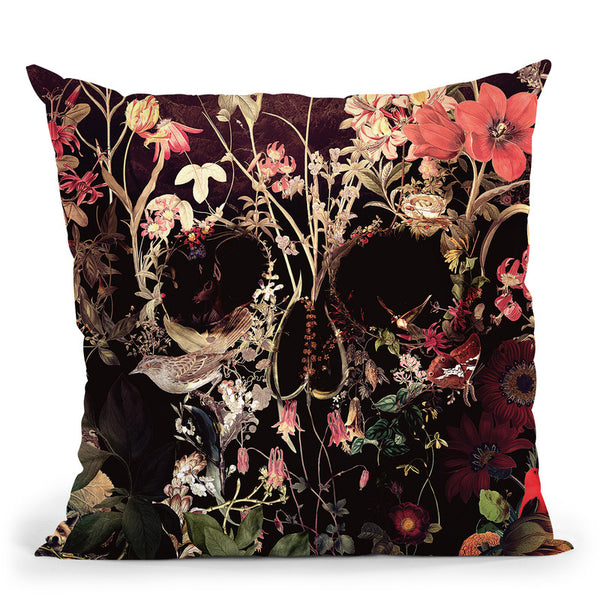 Bloom Skull Throw Pillow By Ali Gulec