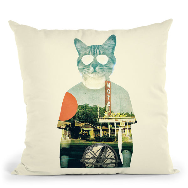 Cool Cat Throw Pillow By Ali Gulec