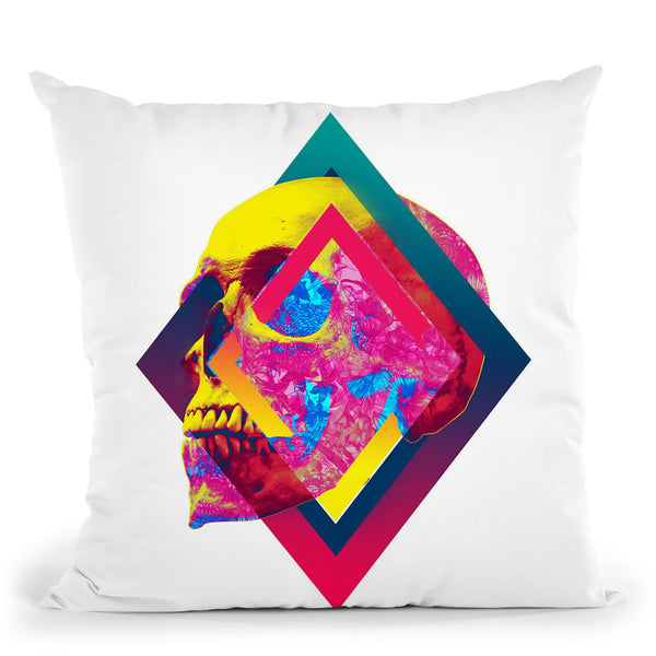 Lifeful Skull Throw Pillow By Ali Gulec