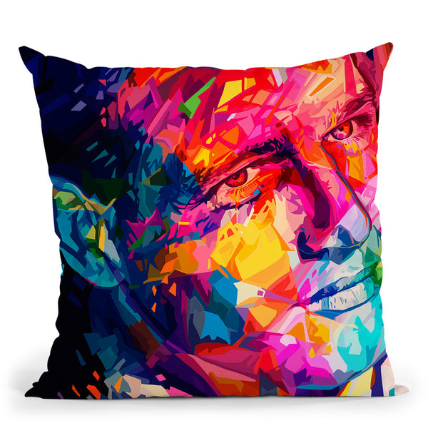 Newman  Throw Pillow By Alessandro Pautasso