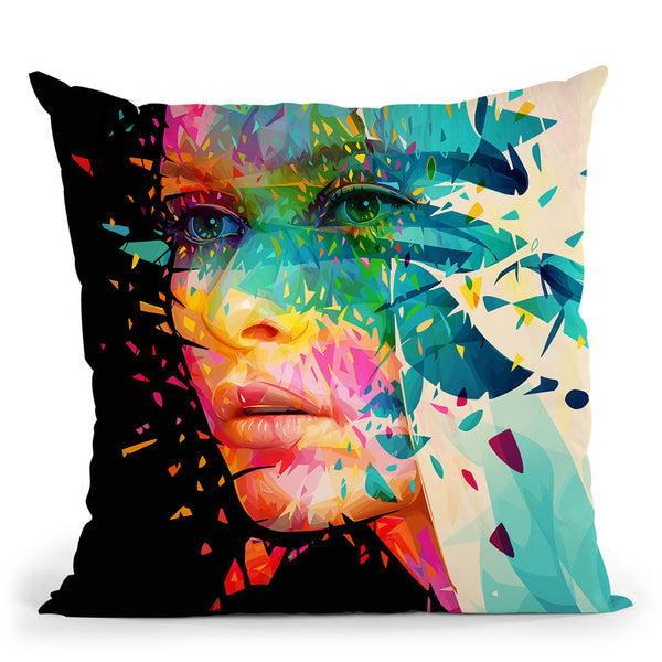 Paintflowers  Throw Pillow By Alessandro Pautasso