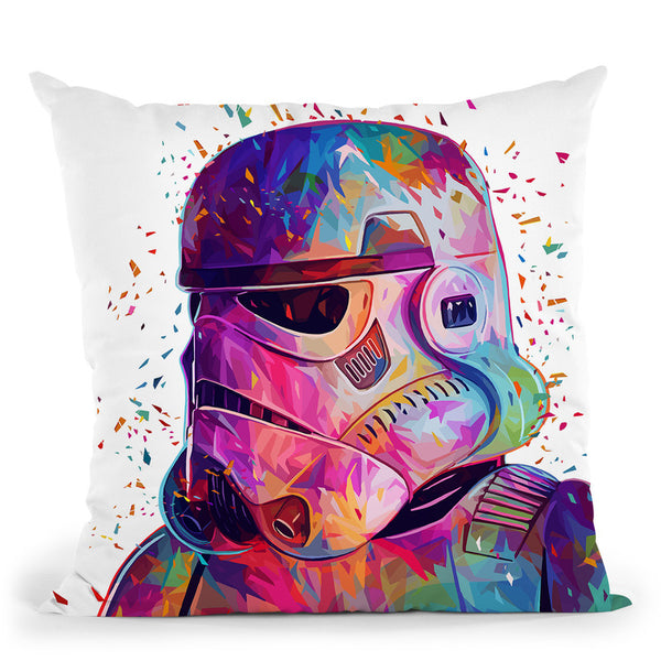 Soldier-White Throw Pillow By Alessandro Pautasso