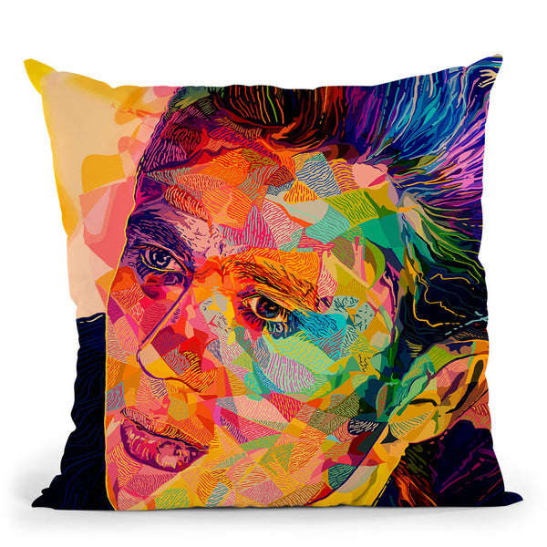 James Dean Throw Pillow By Alessandro Pautasso