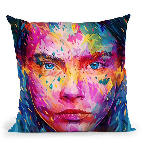Cara- Throw Pillow By Alessandro Pautasso