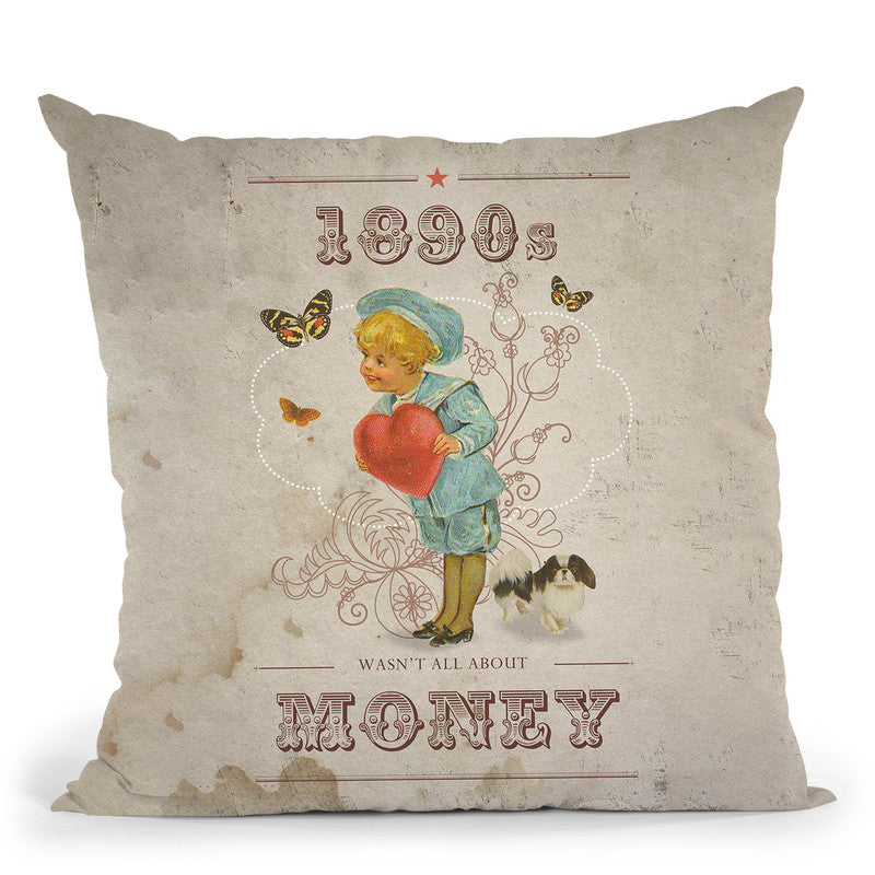 1890 Money Throw Pillow By Elo Marc - All About Vibe