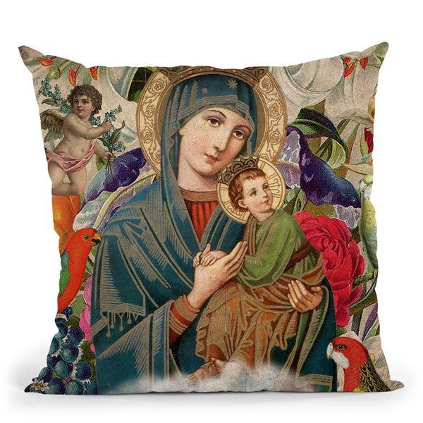 Madonna And Child Throw Pillow By Elo Marc - All About Vibe