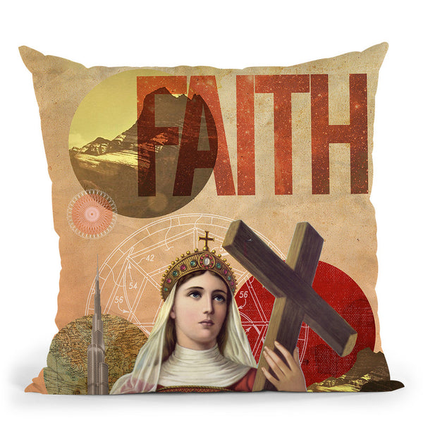 Rise Of Mary Throw Pillow By Elo Marc - All About Vibe