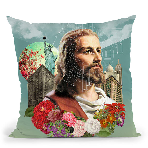 The Messenger Throw Pillow By Elo Marc - All About Vibe