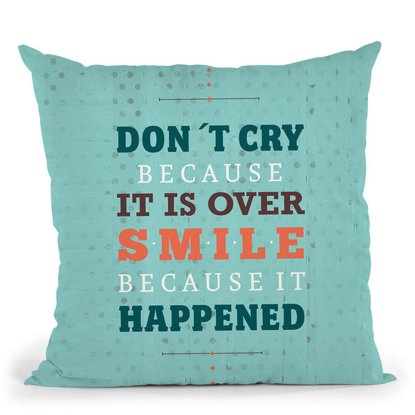 Smile At Past Throw Pillow By American Flat - All About Vibe