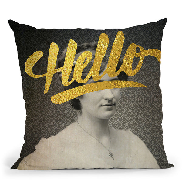 Hello Throw Pillow By Elo Marc - All About Vibe