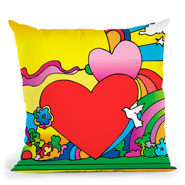 Cosmic Heart Landscape Throw Pillow By Howie Green - All About Vibe